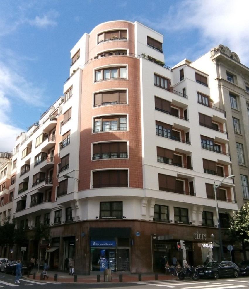 Fachada en Rodríguez Arias 8-Bilbao